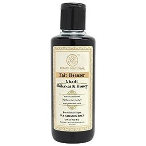 Khadi Natural Herbal Shikakai and Honey Conditioning Shampoo for all Hair Types (210 ml)