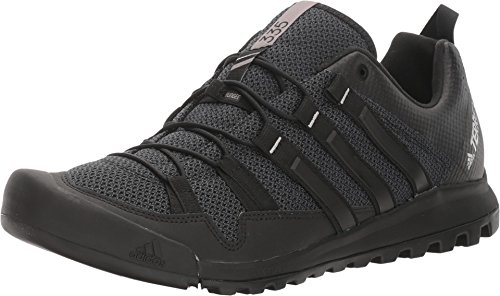 adidas Sport Performance Men's Terrex Solo Hiking Sneakers, Black Textile, Rubber, 14 M