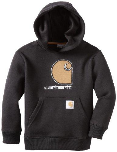 - Carhartt Little Boys' Big C Fleece Hooded Sweatshirt, Black, 4