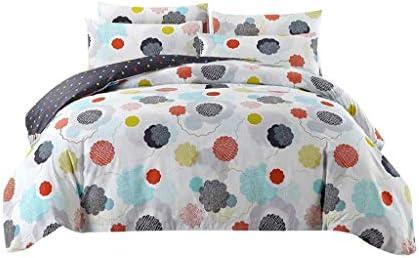 寝具カバー 布団カバー コットン4ピーススーツコットンフラワープラントベッドシーツ掛け布団カバー寝具セット4つの1.5メートル/ 1.8メートルの牧歌的な sjkj (Size : 1.8M (6 feet))