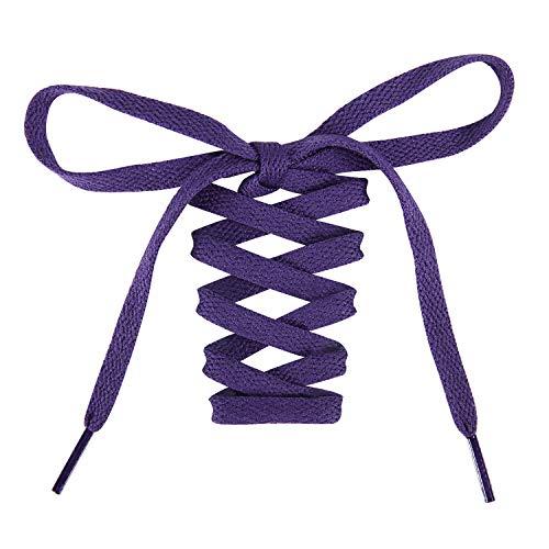Purple Shoe Laces (Handshop Flat Shoelaces 5/16