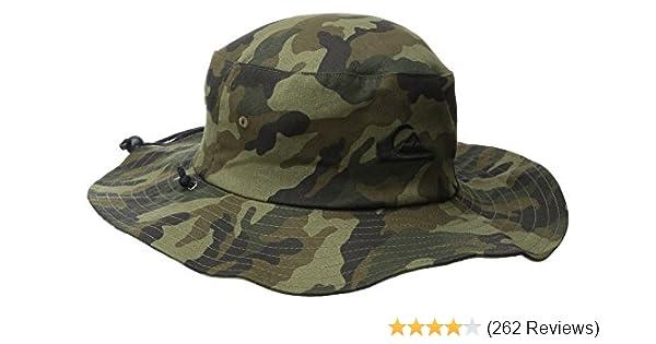 7d810509 Amazon.com: Quiksilver Men's Bushmaster Floppy Sun Beach Hat: Clothing