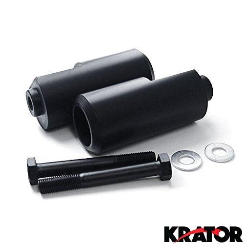 Krator MT219-001 Black Slider (2004-2006 Yamaha YZF R1 No Cut Frame Crash Protectors Motorcycle)