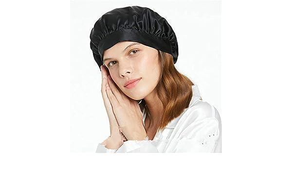 Chlyuan-hm Gorra de Dormir Sombrero de Seda Natural del Casquillo ...