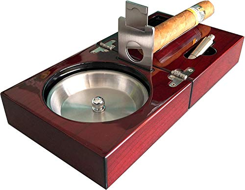 SIKARX Cigar Ashtray - Tray Design for Outdoor, Windproof, Indoor and Patio (8