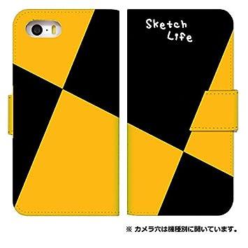 def72bced7 [iPhoneSE] スマホケース 手帳型 ケース デザイン手帳 アイフォンエスイー 8056-D. スケッチ
