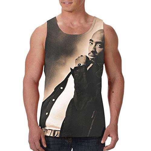 (HuiXieJian 2Pac Me Against The World Men's Gym Muscle Tank Top T-Shirt XL Black)