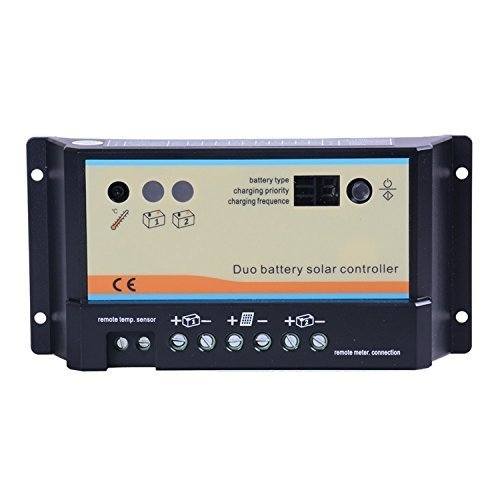 Renogy 20 Amp PWM Dual Battery Solar Panel Charge Controller by Renogy