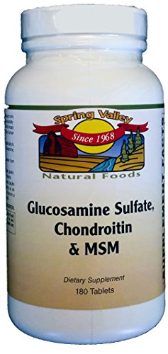 Spring Valley Natural Foods Glucosamine Sulfate, Chondroitin & MSM 180 Tablets