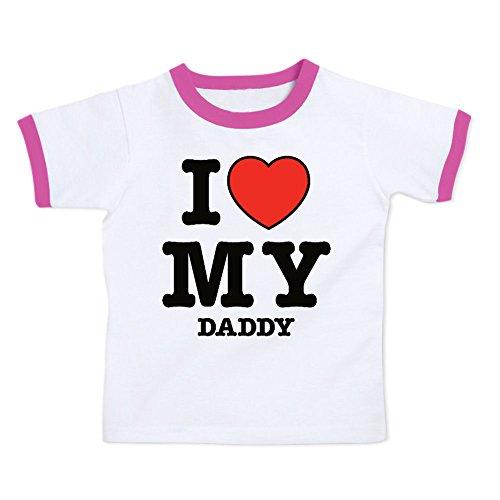 Love Ringer (We Match! I Love My Daddy (Red Heart) Toddler & Kids T-Shirt (Raspberry Ringer, 4T))