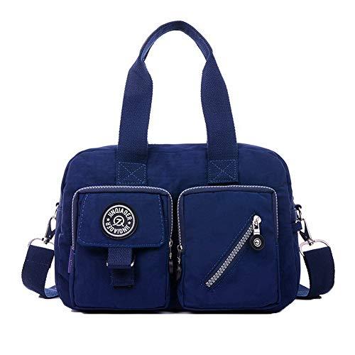 AgooLar Donna Nylon Borse a tracolla Shopping Borse a tracolla,GMMBA205725,Nero Blu Scuro