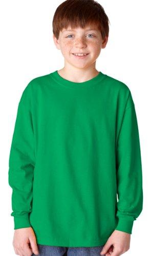 Gildan Big Boys' Double Needle Seamless Crewneck T-Shirt, Medium, Irish - Gildan Big Crewneck Mens Tee