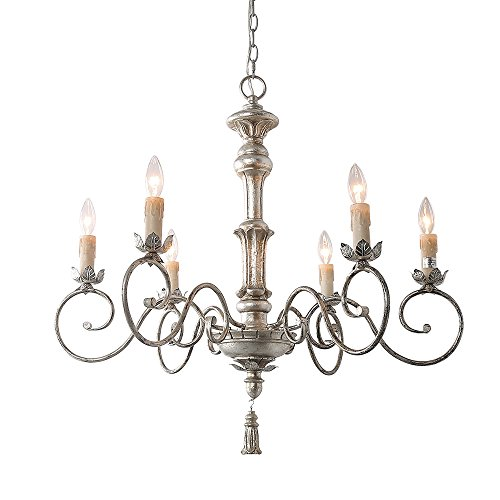 Cheap LNC 6-Light Pendant Light Traditional Chandelier Lighting Candle Chandeliers