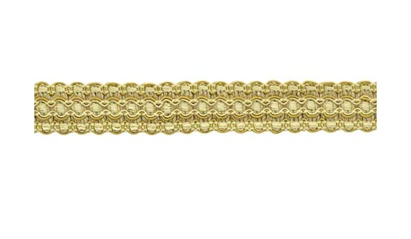 """Coin Gold Gold By The Yard Antique Gold 1/"""" Gimp Braid Trim Gold"""