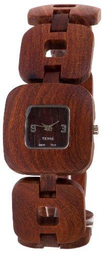 Tense Solid Sandalwood Unisex Watch Natural Wood Watch Retro B8204S