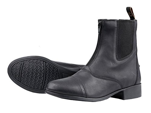 Dublin Riding Boots - Dublin Ladies Foundation Zip Paddock Boots - Black - Size: 7