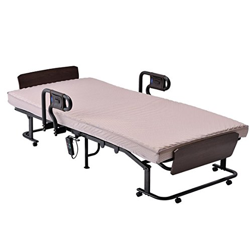 アテックスベッド くつろぐベッド 収納式 AX-BE837 ブラウン 104x198x62cm 2モーター 日本製 高反発素材 東洋紡ブレスエアー使用 B01N14ZISL