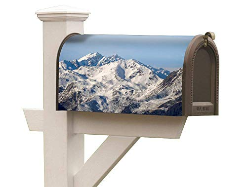 KR. LIF Aging Resistance Magnetic Mail Wrap Sticker Vivid Designs Mailbox Sign Exploring The Alps 18 x 0.2 x 20.5 inches