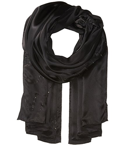 Ted Baker London Women's Stardust Hot Fix Long Scarf, Black, One Size by Ted Baker
