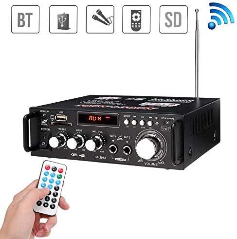 TJCB Auto-Verst/ärker 600W Lautsprecher FM Radio-Audio Bluetooth-Player HiFi Mikrofon Fernbedienung LED Hintergrundbeleuchtung Klar Lossless Subwoofer Stereo Fernsteuerungs-110V USB