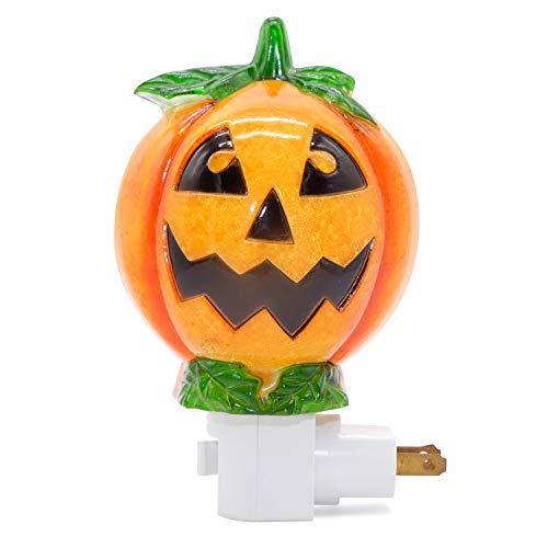 DRomance Pumpkin Plug in Night Light with 360 Degree Swivel Plug Halloween Decoration
