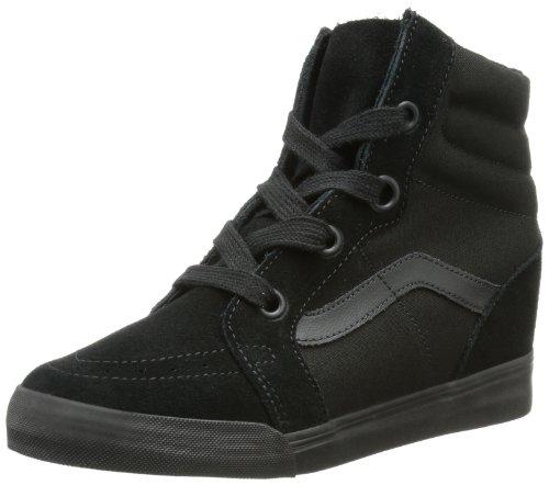 Galleon - Vans Unisex Sk8-Hi Wedge Black Black Casual Shoe 8 Men US   9.5  Women US f7af9127325b
