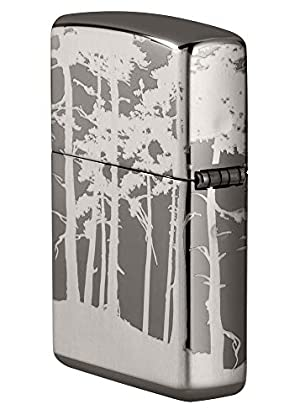 Zippo Squatchin' in The Woods 360° Design Pocket Lighter, Black Ice Laser, One Size (Color: Black Ice Laser, Tamaño: One Size)