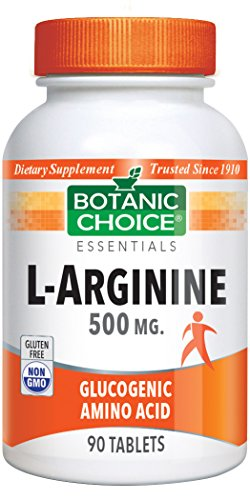 Botanic Choice L-Arginine 500mg, 90 Tablets (Pack of 6) by Botanic Choice