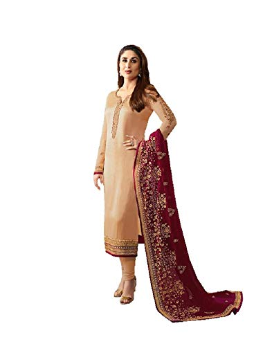 Delisa Ready Made New Designer Indian/Pakistani Fashion Dresses for Women (Being, MEDIUM-40)