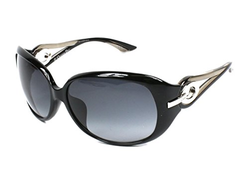 Christian Dior Lady 2/F/S Sunglasses Shiny Black / Gray - Sunglasses Lady Lady Dior 2