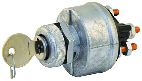 Tectran 19-1060 Ignition & Starter Switch, Position 4, Base 1, Mounting Style 2, Starter Lockout N