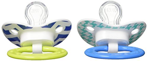 Pacifier Nuk (NUK Juicy Orthodontic Pacifier 0-6 Months 2 Ea Styles and colors May Vary)