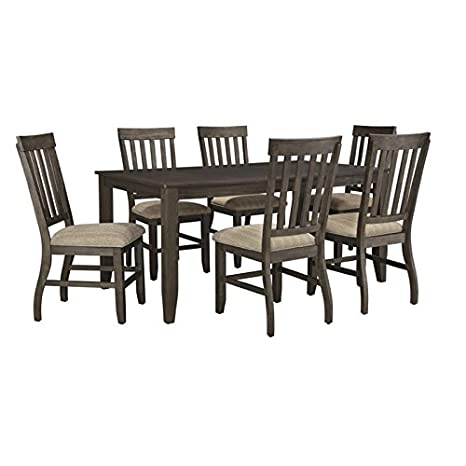 Fantastic Amazon Com Ashley Furniture Dresbar 7 Piece Dining Set In Inzonedesignstudio Interior Chair Design Inzonedesignstudiocom