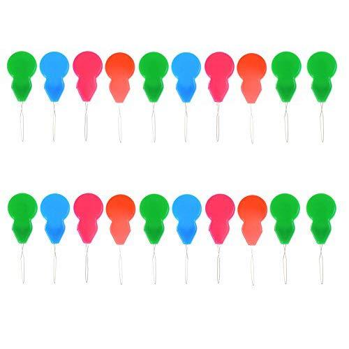 - DINGJIN 20 Pcs Plastic Needle Threaders Automatic Needle Threader Thread Guide Device,Assorted Colors