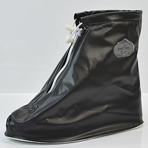 QZUnique Womens Waterproof Rubber Rain Boots Anti-slip Ankle High Rain Shoes Black U9lnM