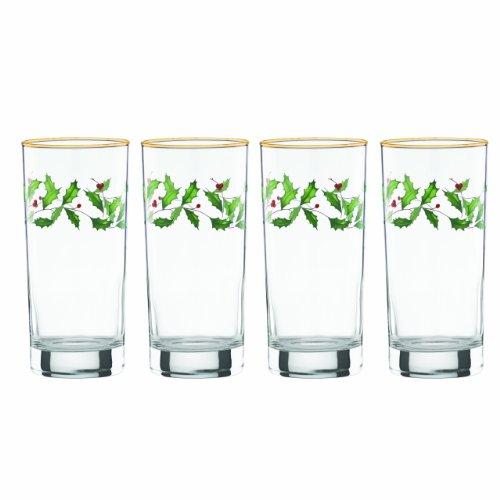 (Lenox Holiday Hiball Glasses, Set of 4)