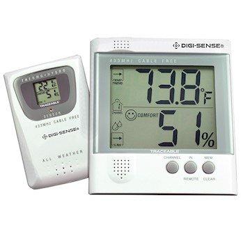 Digi-Sense Wireless Digital Thermometer and Humidity Set, 1 Remote Probe