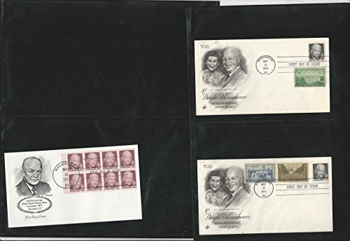 United States Collection, President Eisenhower, 12 Pages of Covers & Stamps (M)