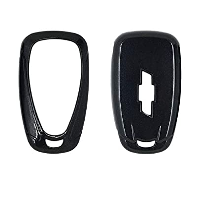 SEGADEN Paint Metallic Color Shell Cover Hard Case Holder fit for CHEVROLET Smart Remote Key Fob 2 3 4 5 6 Button SV0654 Black: Automotive