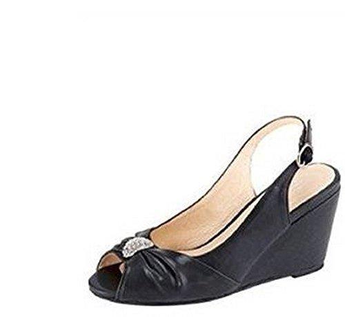 Andrea pour Sandalette femme Sandales Conti Noir T7rqwTS
