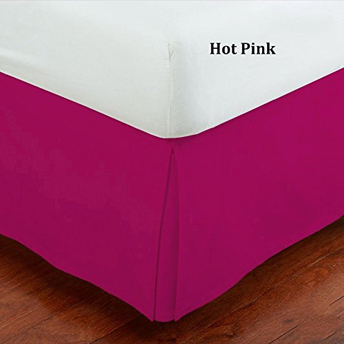 Fancy Collection Full Size Easy Care Tailored Microfiber 14-inch Bed Skirt Solid Hot Pink
