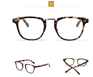 d8ccddf6b1 Anizun(TM)Vintage Men Eyeglasses Frames oliver peoples Retro Women Eye  Glasses Frame With Clear Lens Oversized Glasses oculos de grau 2496   Amazon.co.uk  ...