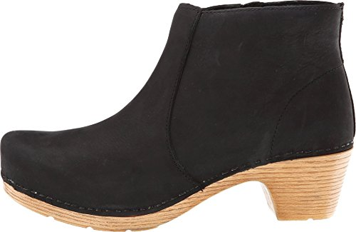 Dansko Women's Maria Boot, Black Milled Nubuck, 39 BR/8.5-9 M US