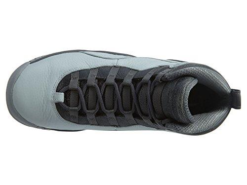Nike Air Jordan 10 Retro Stora Barn Stil Ren Platina / Metalliskt Guld / Mörkgrå / Svalt