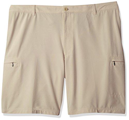 IZOD Men's Big and Tall Swing Flex Cargo Short, Peacoat/Beige, 48 (Coat Short Swing)