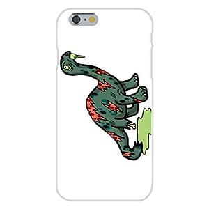"Apple iphone 6 plusd 5.5 Custom Case White Plastic Snap On - ""Zombie Brontosaurus"