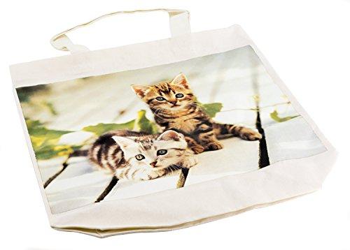 Sacchetto in Cotone, Motivo: Gatti