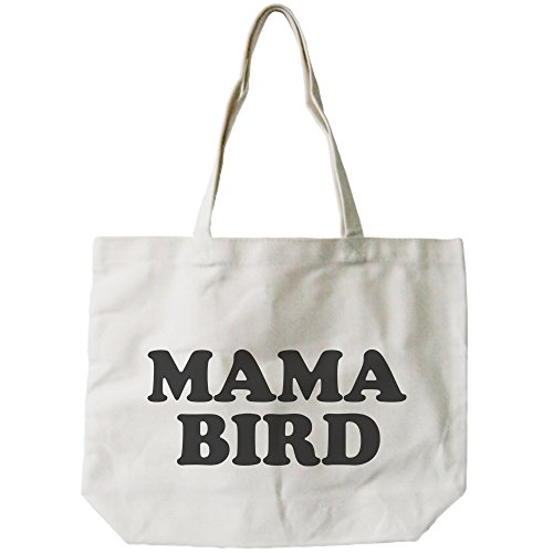 Mama Bird Canvas Bag Grocery Diaper Book Bags Gifts For Mom Mothers Day Gift by 365 In Love (Image #2)'