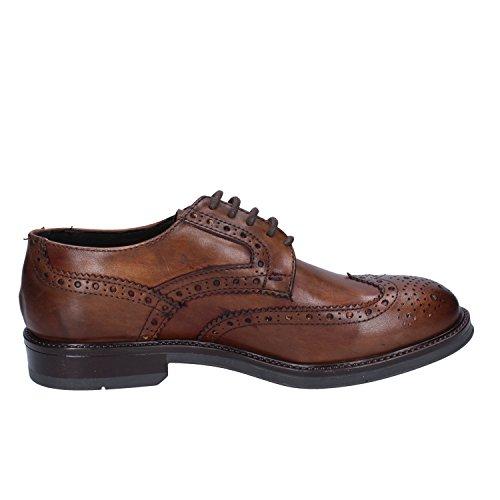 MADE EU IN Cuoio by ITALY Pelle Oxford Marrone Classiche CORAF Shoe Uomo 40 qq6rO