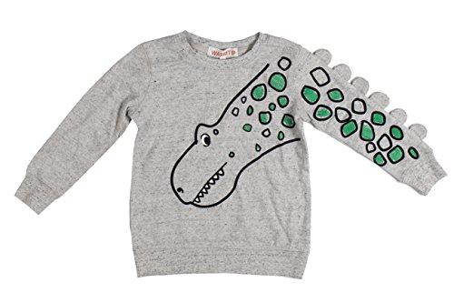 Little Boys Toddler Cartoon Dinosaur Long-Sleeve Cotton T-Shirt